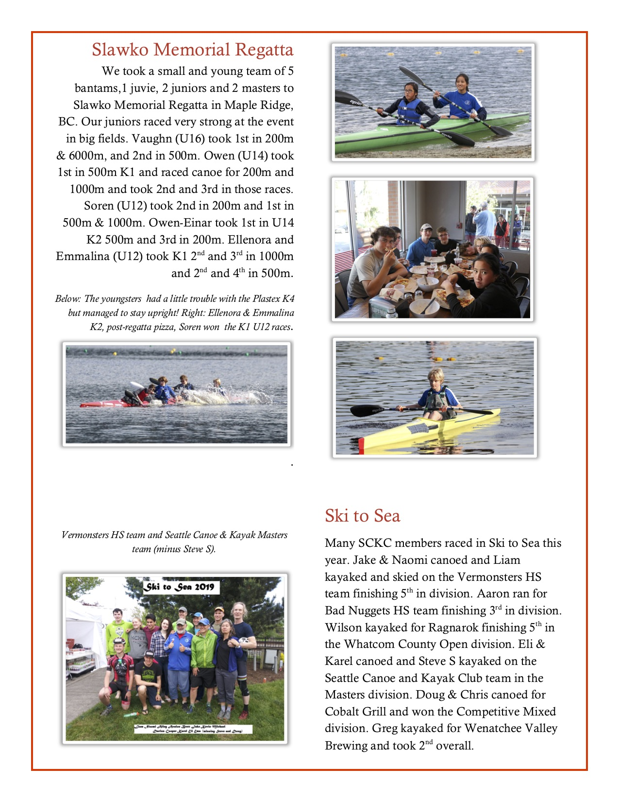 ◊ Latest News/Announcements ◊ Seattle Canoe and Kayak Club